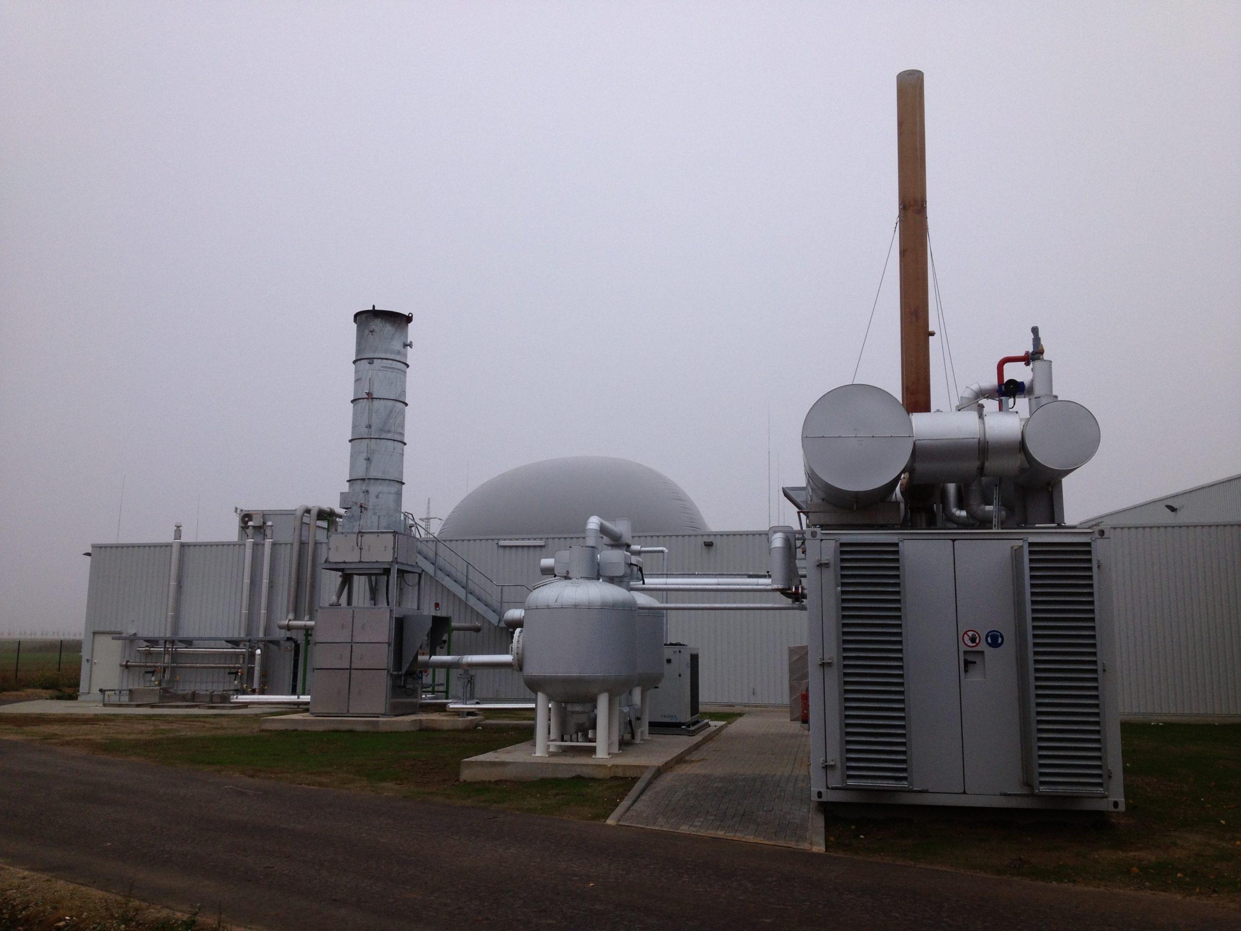 Integration einer Trockenvergärungsanlage – Humuswerk Essenheim