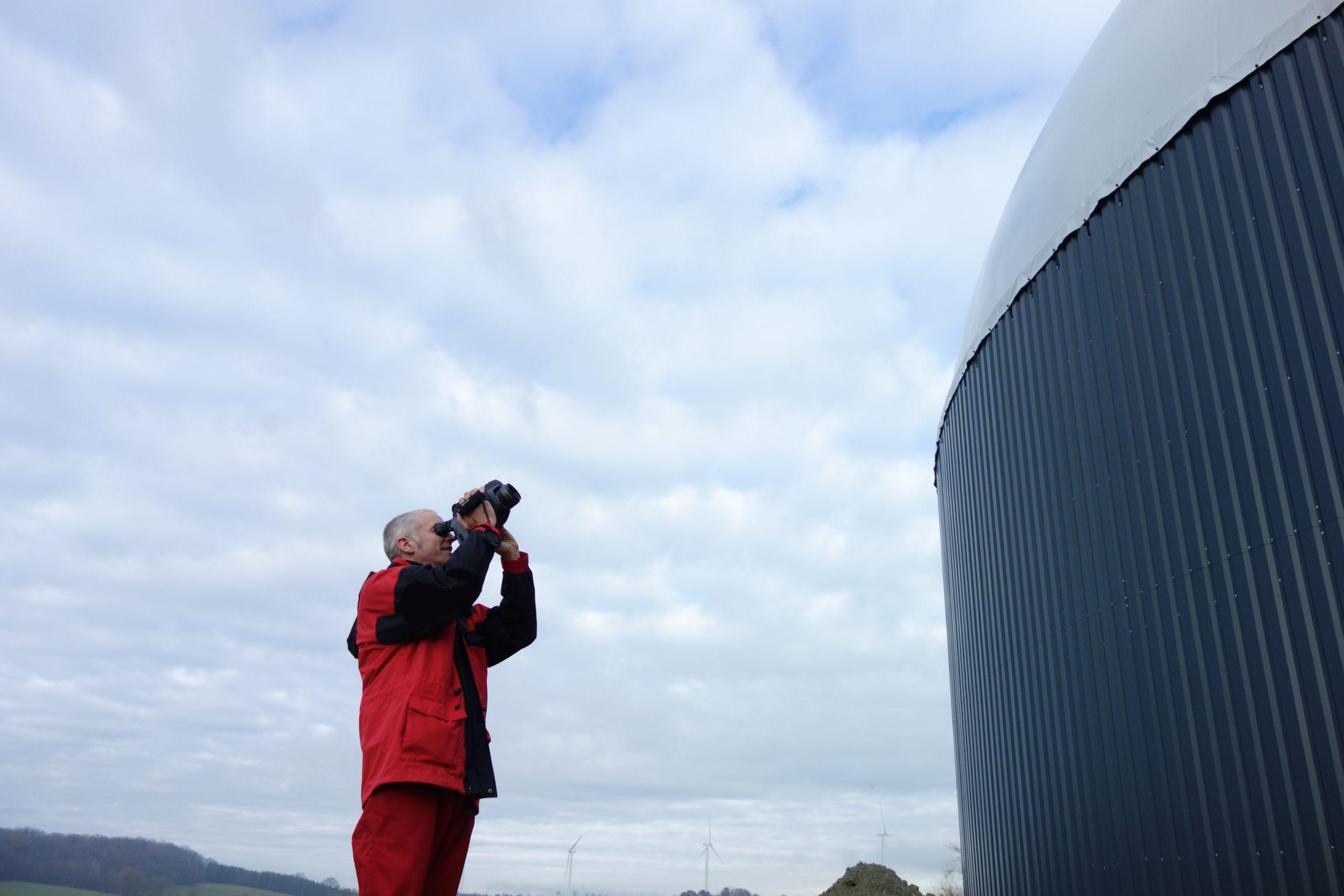 Leckagesuche an Biogasanlagen